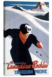 Obraz na płótnie  Skiing in the Canadian Rockies - Travel Collection