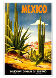 Plakat  Mexico cactus - Travel Collection
