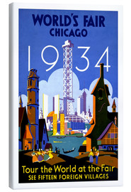 Obraz na płótnie  Chicago - Worlds Fair 1934 - Travel Collection