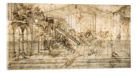 Obraz na szkle akrylowym  Perspective Study for the background of the Adoration of the Magi - Leonardo da Vinci