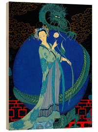Obraz na drewnie  Woman with a kite - Georges Barbier