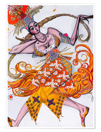 Plakat Costume Design for a dance of the Diaghilev Ballet
