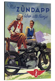 Obraz na aluminium  With Zündapp over the hills (German) - Advertising Collection