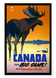 Plakat  Canada - big game - Travel Collection