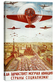 Obraz na płótnie  Aircraft parade on Moscow - Advertising Collection