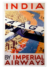 Plakat India tour with Imperial Airways