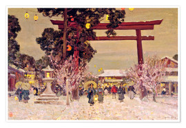 Plakat  View of Shinto Shrine, c.1889 - Sir Alfred East