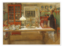 Plakat  Getting Ready for a Game - Carl Larsson