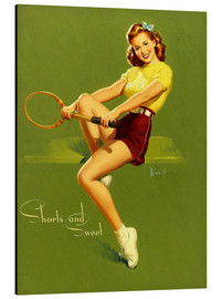 Obraz na aluminium  Pin Up - Shorts and Sweet - Al Buell