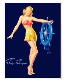 Plakat  Pin Up - Ship Shape - Al Buell