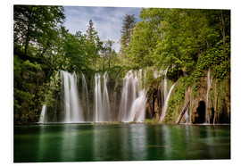 Obraz na PCV  Paradise Waterfall in Plitvice - Andreas Wonisch