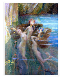 Plakat  Water Nymphs 1927 - Gaston Bussiere