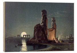 Obraz na drewnie  The Colossi of Memnon, Thebes - Carl Friedrich Heinrich Werner