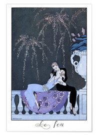 Plakat  The Fire - Georges Barbier