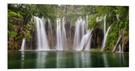 Obraz na PCV  Paradise like waterfall in plitvice - Andreas Wonisch
