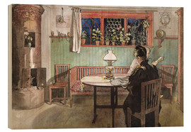 Obraz na drewnie  When the Children have Gone to Bed - Carl Larsson