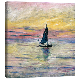 Obraz na płótnie  Sailboat evening - Claude Monet