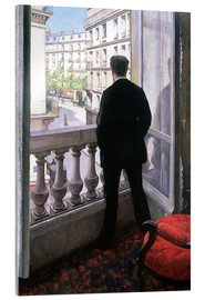 Obraz na szkle akrylowym  Man at the Window - Gustave Caillebotte