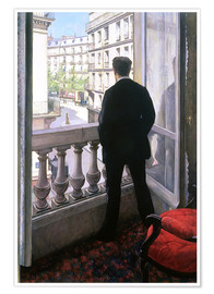 Plakat  Man at the Window - Gustave Caillebotte