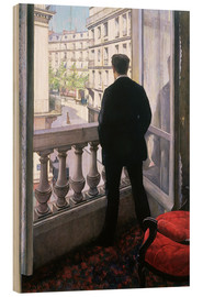 Obraz na drewnie  Man at the Window - Gustave Caillebotte