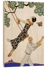 Obraz na drewnie  The Swing, 1920s - Georges Barbier