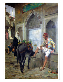 Plakat A street in Istanbul, 1883