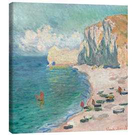 Obraz na płótnie  Cliff at Etretat - Claude Monet