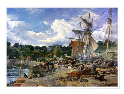 Plakat At the pier, Aberdour, Firth of Forth, 1865