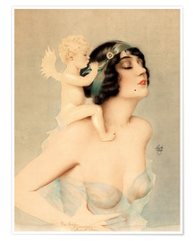 Plakat  Girl with angel - Alberto Vargas
