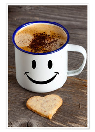 Plakat Cup with smiley face
