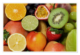 Plakat Fruits Background
