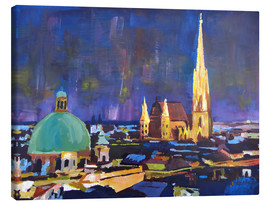 Obraz na płótnie  Vienna Skyline at Night with St Stephan - M. Bleichner