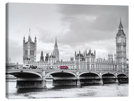 Obraz na płótnie  Westminster bridge with look at Big Ben and House of parliament - Edith Albuschat