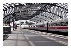 Plakat White train at Berlin Central Station
