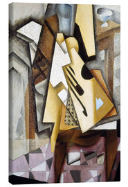 Obraz na płótnie  Guitar on a Chair - Juan Gris