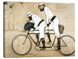 Obraz na płótnie  Casas and Romeu on a tandem - Ramon Casas i Carbo
