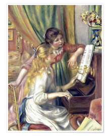 Plakat Two girls at the piano
