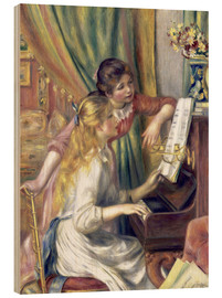 Obraz na drewnie  Two girls at the piano - Pierre-Auguste Renoir