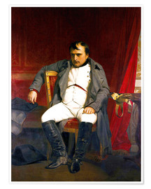 Plakat Napoleon after his abdication