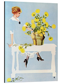 Obraz na aluminium  Housekeeper with bouquet - Clarence Coles Phillips