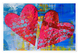 Plakat  Colorful Love - Andrea Haase