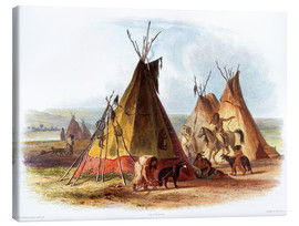 Obraz na płótnie  Camp of Native Americans - Karl Bodmer