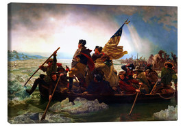 Obraz na płótnie  Washington Crossing the Delaware, 1851 - Emanuel Gottlieb Leutze