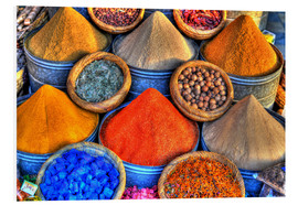Obraz na PCV  Colorful oriental spices on the bazaar in Marrakech - HADYPHOTO