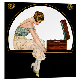 Obraz na szkle akrylowym  The music of women - Clarence Coles Phillips