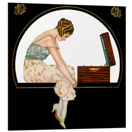 Obraz na PCV  The music of women - Clarence Coles Phillips