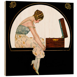 Obraz na drewnie  The music of women - Clarence Coles Phillips