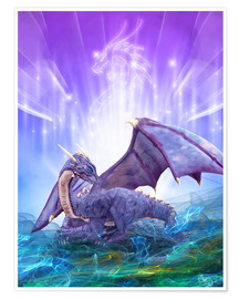 Plakat  Dragon Energy - Dolphins DreamDesign
