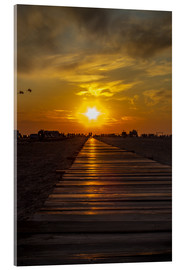 Obraz na szkle akrylowym  Evening sun in St Peter Ording on the North Sea - Dennis Stracke