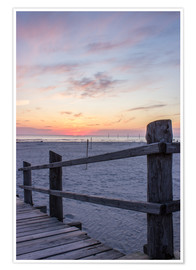 Plakat  Jetty into the sea from St Peter Ording - Dennis Stracke